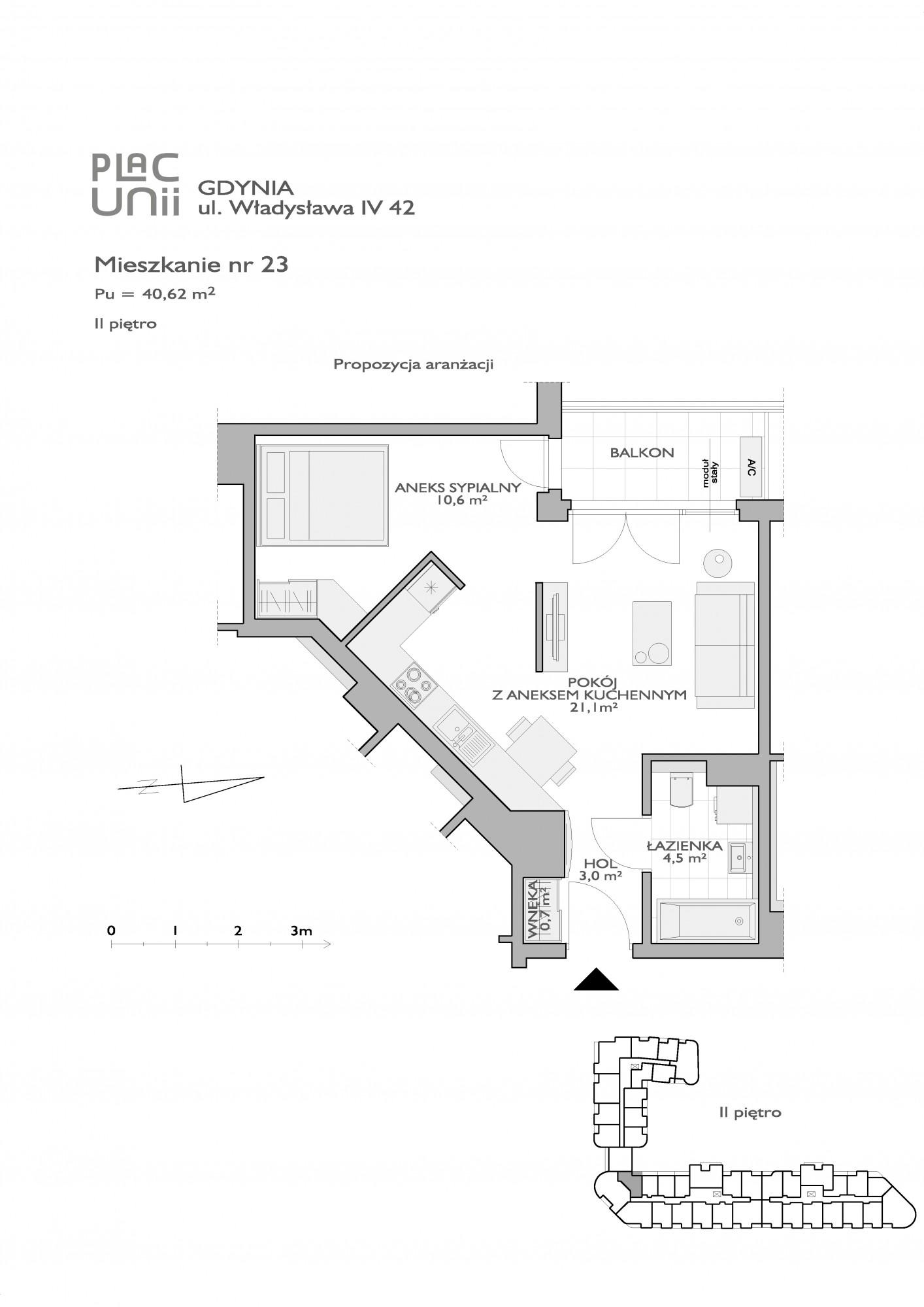 Karta lokalu Gdynia, ul. Obrońców Wybrzeża nr PU/W/42/23