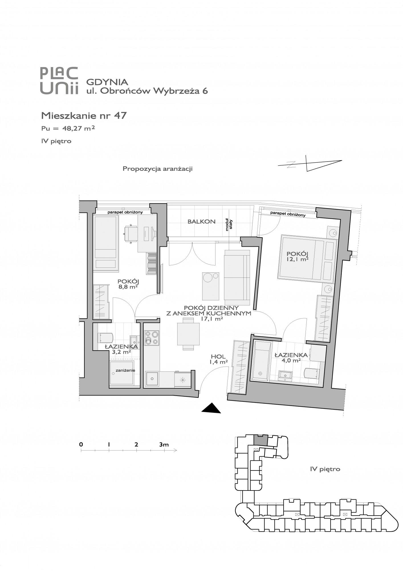 Karta lokalu Gdynia, ul. Obrońców Wybrzeża nr PU/O/6/47
