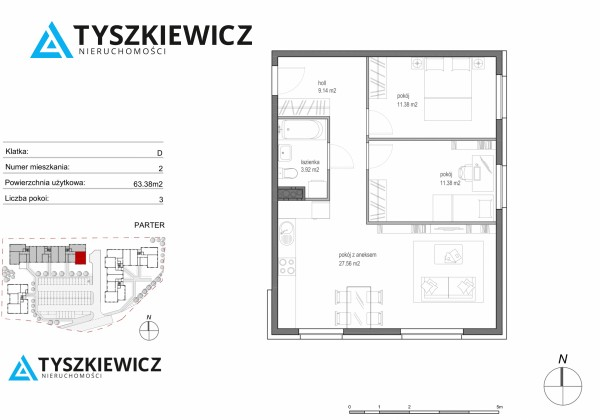 Zdjęcie 7 oferty TY801305 Gdańsk Morena, ul. Stanisława Lema